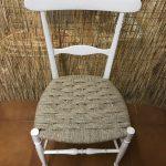 sedia impagliata bianca