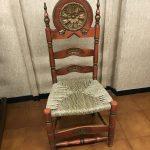 sedia legno e paglia genova